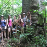 Exploring La Cusinga's protected raifnorest reserve with UNCA tropical ecosystems field course 2013-2014